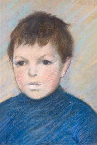 portrait de pierre renoir by pierre auguste renoir