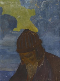 study for portrait of nicholas roerich by svetoslav nikolaevich roerich
