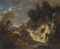 a cutting by the side of a wood by cornelis huysmans