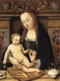 the virgin and child (the madonna montenuovo) by hans holbein the elder