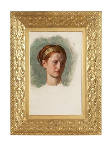 portrait of miss isabella waugh study by william holman hunt