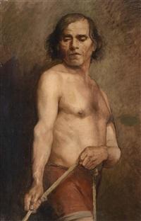 ein stehender männlicher akt by anna bilinska-bohdanowicz