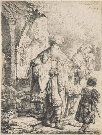 abraham casting out hagar and ishmael by rembrandt van rijn