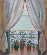 balcon mauresque, sidi bou saïd (tunisie) by gustave lino