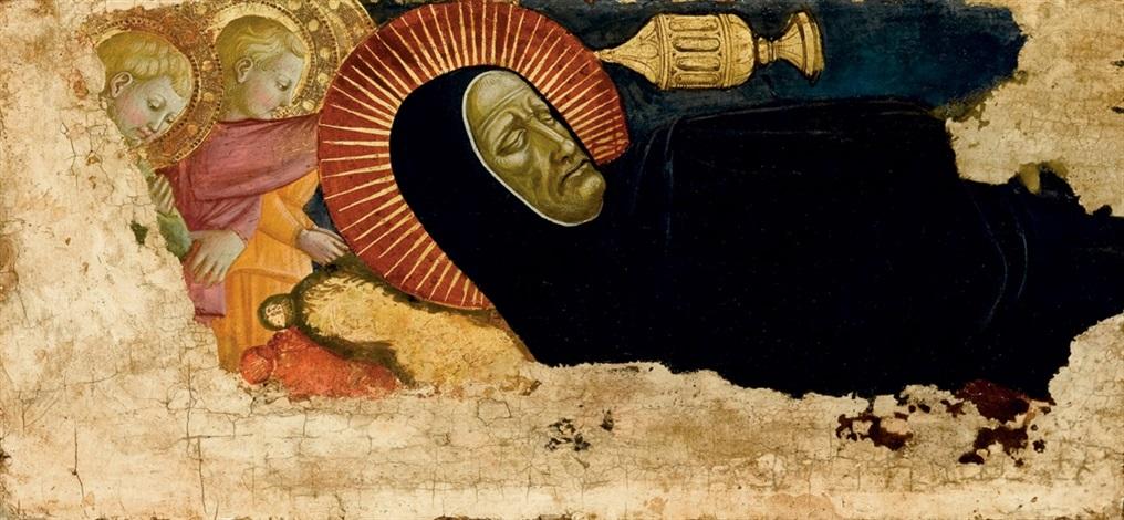 funerale di un santo monaco by domenico di michelino