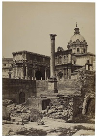 rome, colonne de phocas by bisson jeune