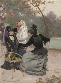 elegant company by etienne-albert-eugène joannon