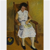 joan in rocking chair by william goodridge roberts