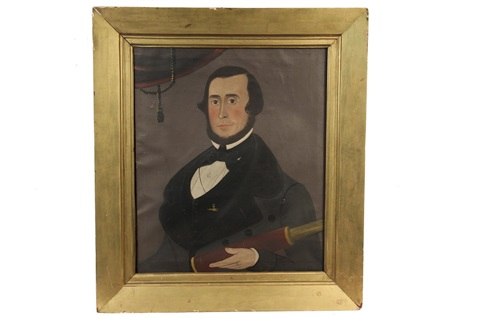 portrait of captain rufus s fales by american school prior hamblen 19