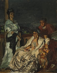 study for the sonata by rupert bunny
