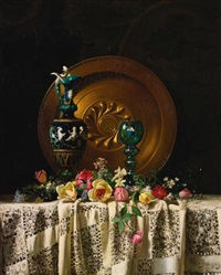 flowers on a table by milne ramsey