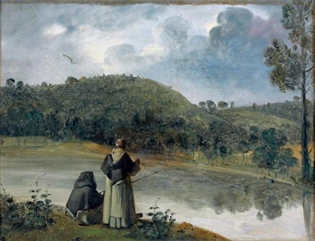deux moines pêchant by françois marius granet