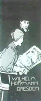 kunst-anstalt fur moderne plakate(plate 127 from les    maitres de l'affiche) by otto fischer