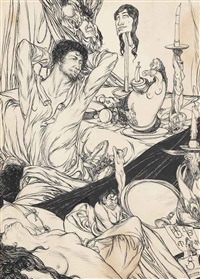 existence (from a book of satyrs) by austin osman spare