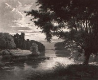 a french river by léon esperance broquet