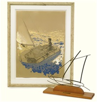 john f. kennedy on his sailboat, the victoria by jamie wyeth