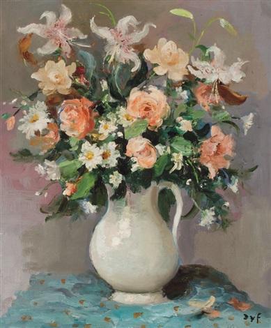roses et lys by marcel dyf