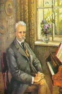 le compositeur piotr tchaikovsky au piano by maya tomson