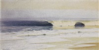 beach scene, long island by richard newton ii