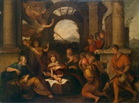 die anbetung der hirten by girolamo da treviso the younger