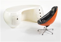 boomerang desk and chair (set of 2) by maurice calka