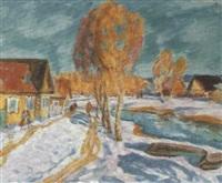 l'hiver au village by victor smirnov