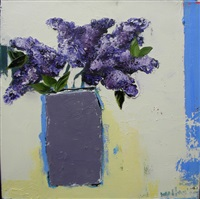 lilacs in vase by tj walton