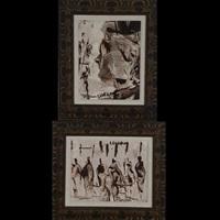 portrait of a man & bazar (2 works) by pascal cucaro