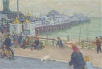 the palace pier, brighton by edward le bas