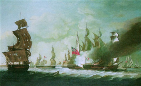 an engagement between an english and a french squadron by john askew