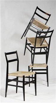 quattro sedie modello leggera by gio ponti