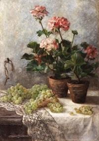 bodegón con macetas y uvas by sebastian gessa y arias