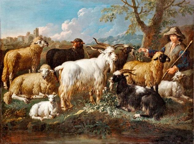 pásztor jószágaival by philipp peter roos