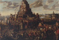 the tower of babel by gillis van valckenborch