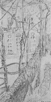 l'ambassade de hollande vue de ma fenêtre pour didier by henri louis aragon
