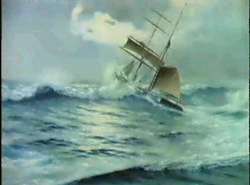das schiff capeando in schwerer see by salvador abril y blasco