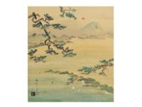 mount fuji at miho by yoson ikeda