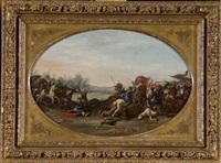 scène de bataille by marzio di colantonio ganassini