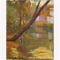 casa junto a la ribera de un río by manuel lledias