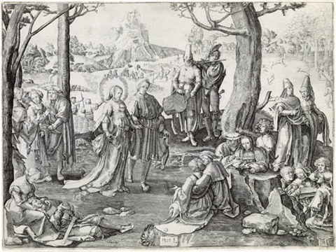 the dance of saint mary magdalen by lucas van leyden