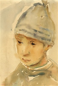 boy with blue cap by eugenia iftodi