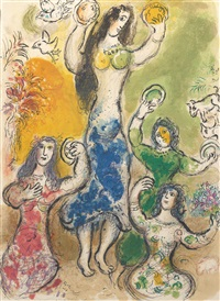 miriam took a timbrell by marc chagall