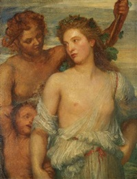 a bacchante by george frederick watts