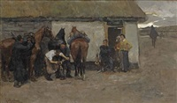 the blacksmith by george hendrik breitner