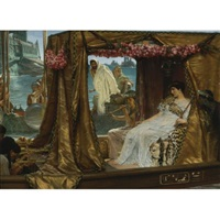 the meeting of antony and cleopatra: 41 bc by sir lawrence alma-tadema