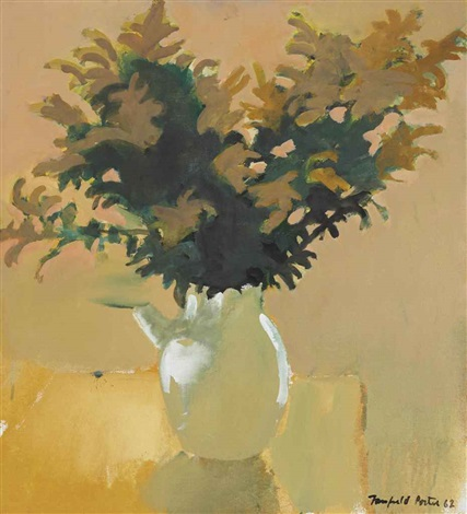 bowl of goldenrod by fairfield porter