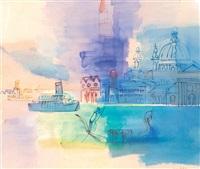 vue sur le canal à venise by jean dufy