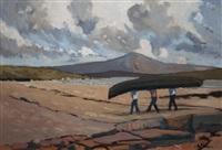 achill island looking towards croagh patrick by alex mckenna