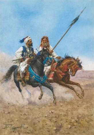 the arab riders by giulio rosati
