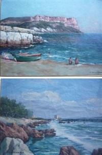 calanque de cassis (+ saint honorat les îles de lérins; 2 works) by vincent spinazzola